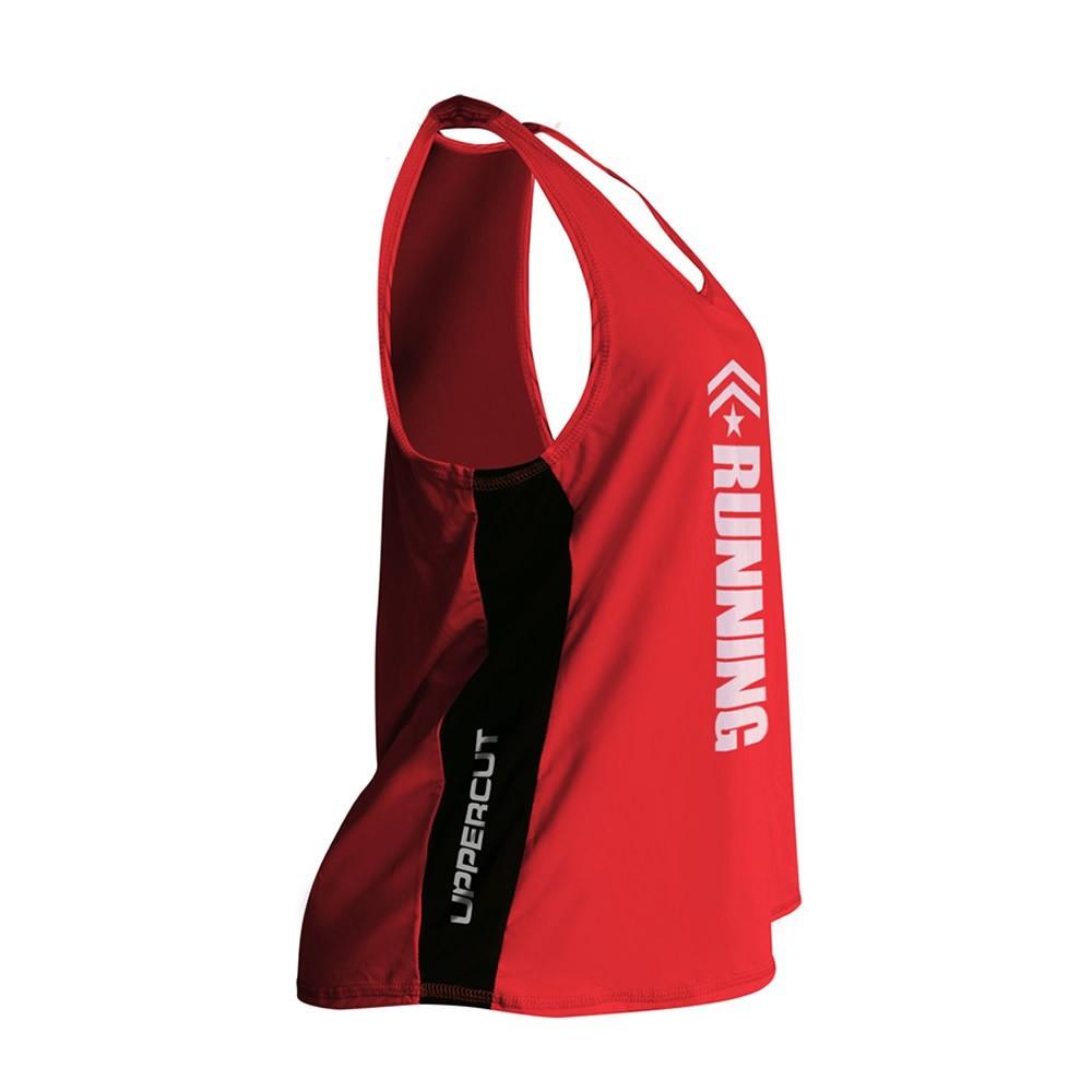 Regata Esportiva Dry Fit - Running Corrida - UV-50+ - Feminina - Vermelha