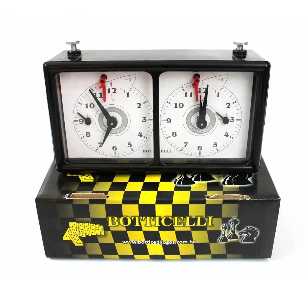 Relógio para Xadrez - Analógico - Oficial - Botticelli  - Loja do Competidor