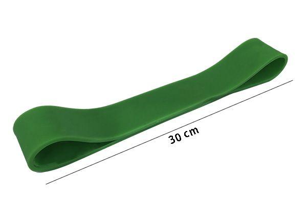 Rubber Mini Band - Elastico de Pilates - Tensão Média - Verde - Prottector  - Loja do Competidor