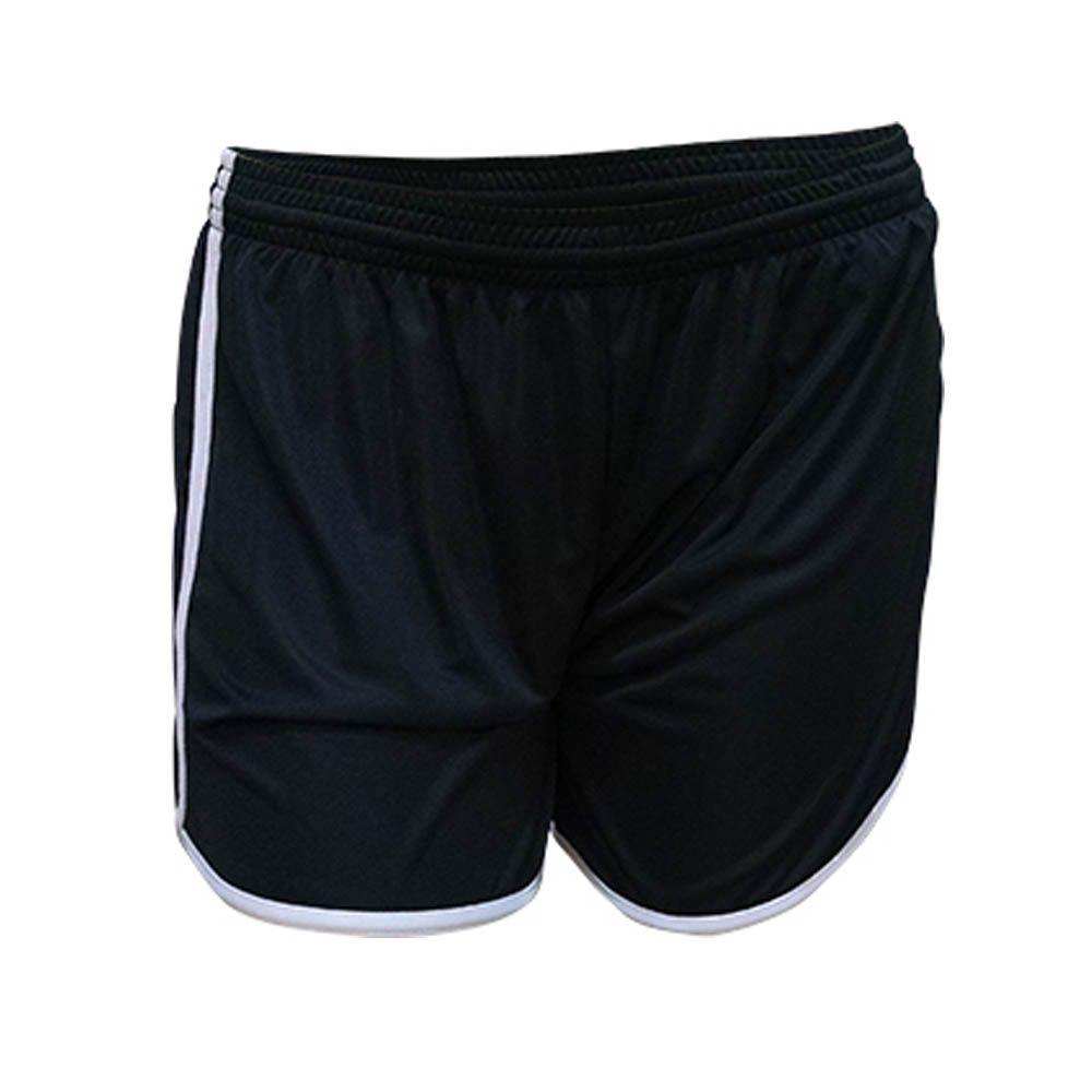 Kit com 16 Shorts Calção de Musculação Fitness- Ferrara - Liso - Preto/Bra - Feminino - Kanga