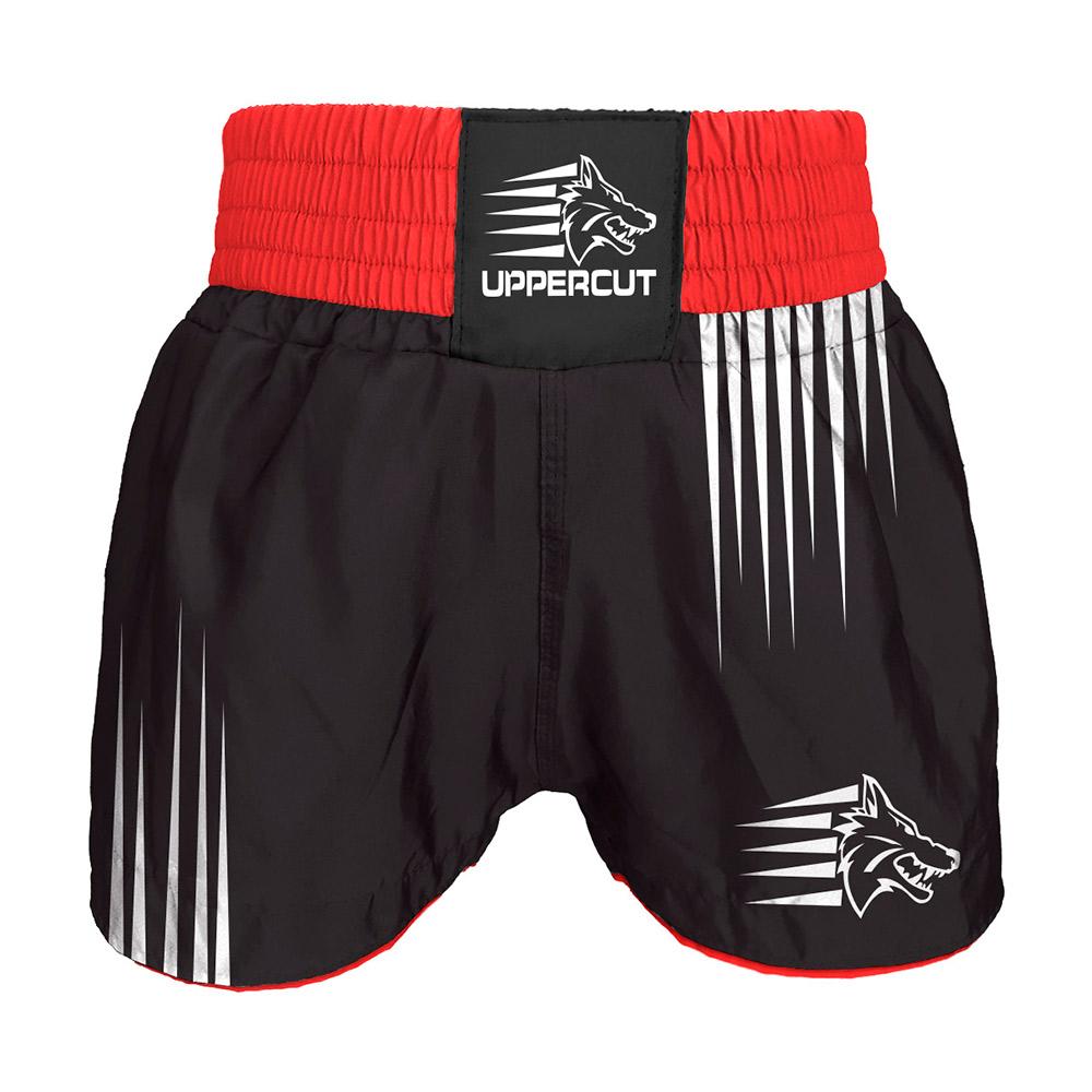 Short Muay Thai Kickboxing Claw Garras - Preto/Vermelho