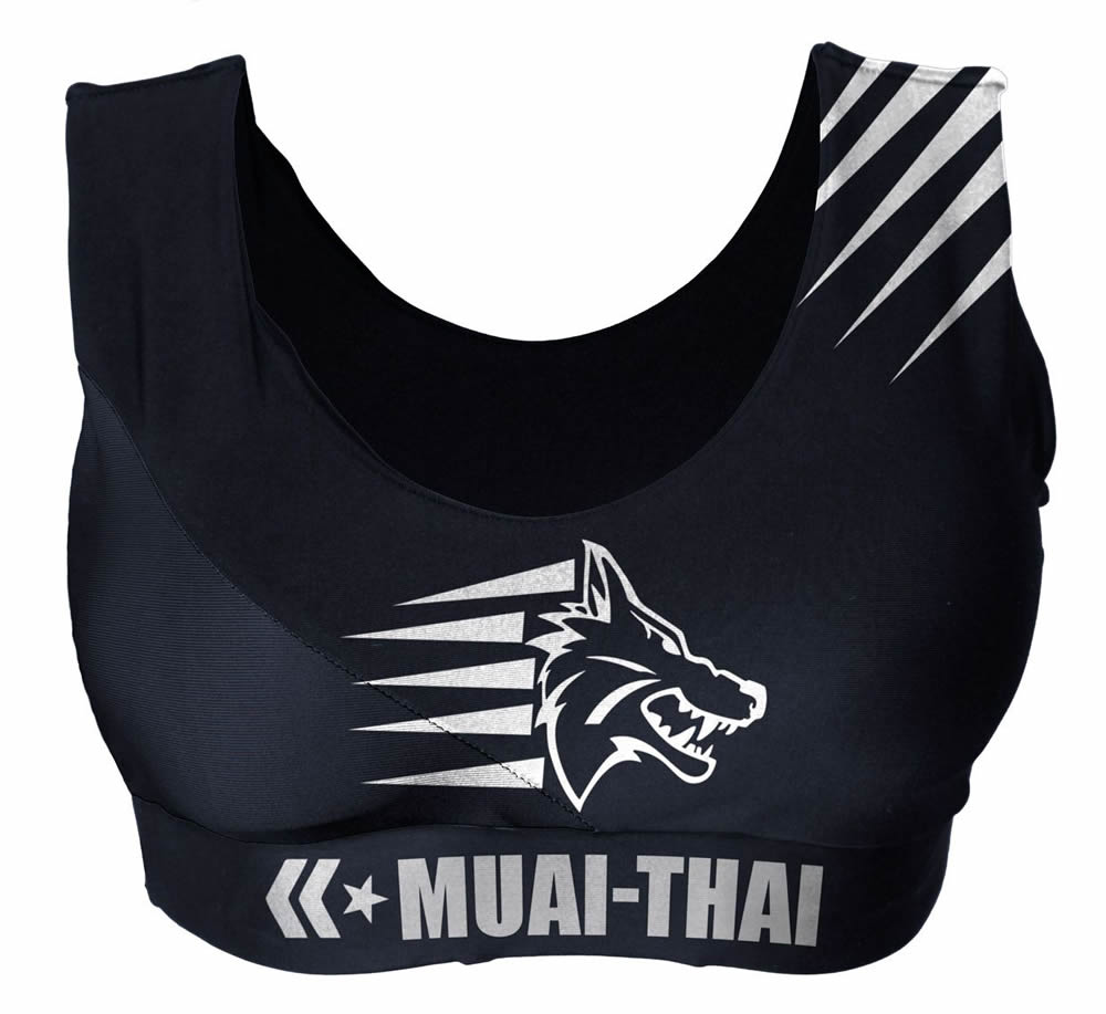 Top Feminino Muay Thai Brasil Fitness - com Bojo - Preto - Uppercut