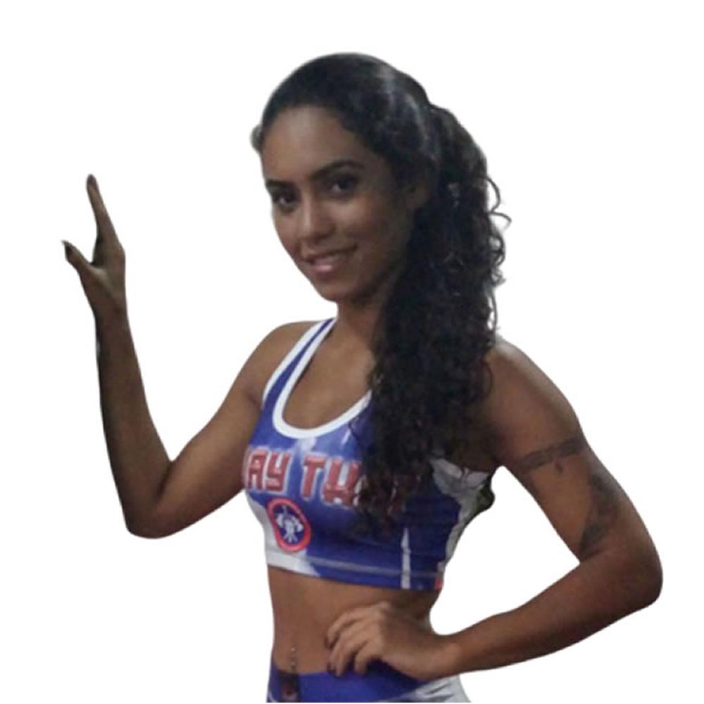 Top Feminino Muay Thai Fitness com Bojo - 1801 - Dominium  - Loja do Competidor