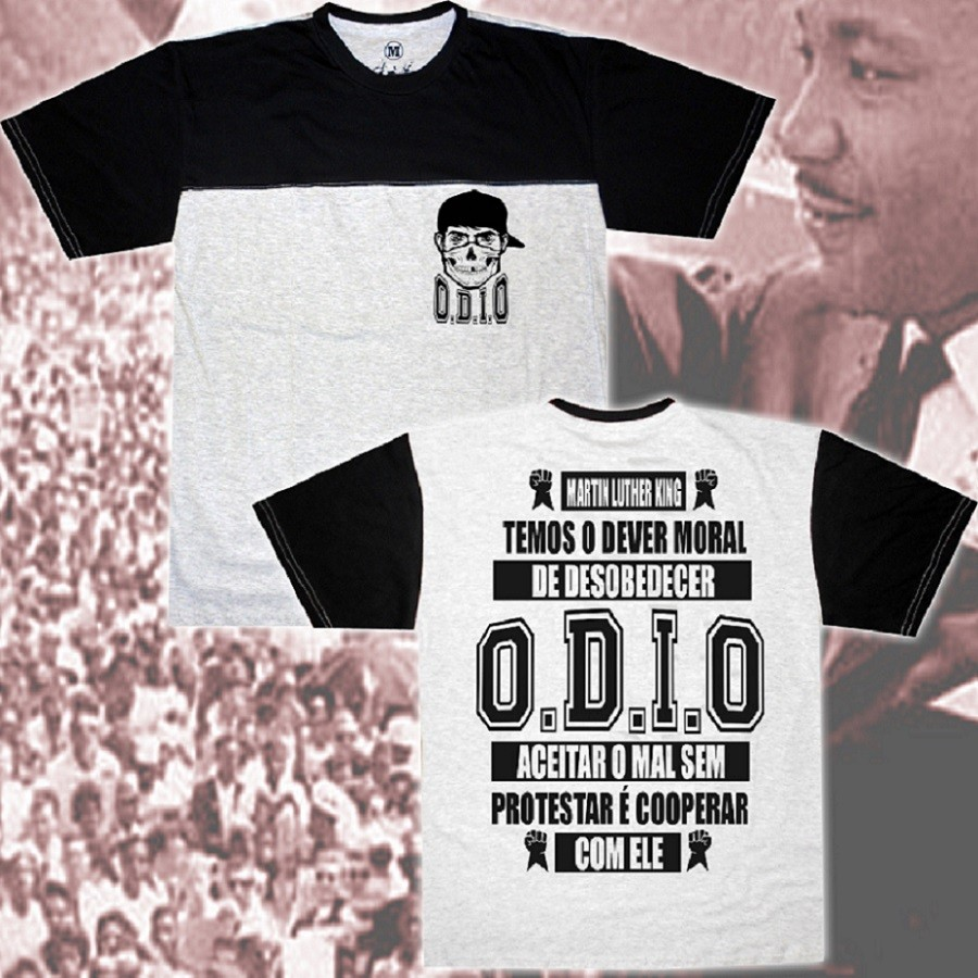 Camiseta O.D.I.O - LUTHER KING PROTESTAR
