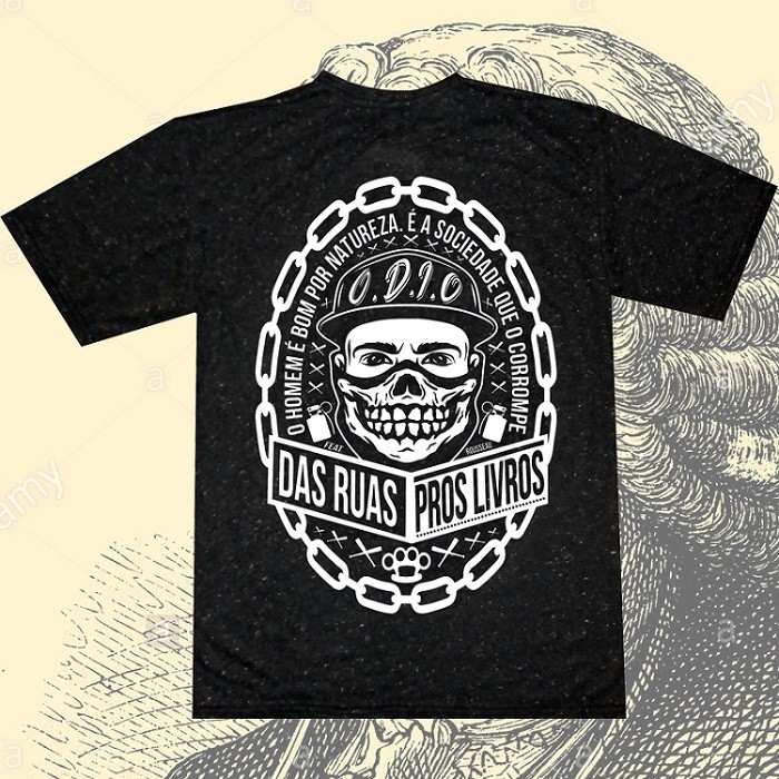 Camiseta O.D.I.O - ROUSSEAU SOCIEDADE