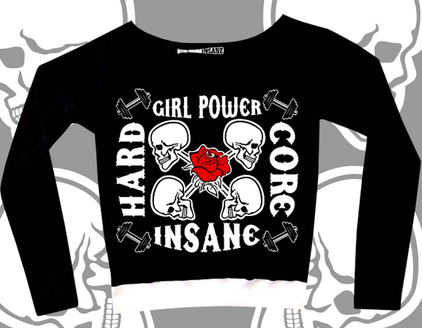 Cropped Manga Longa Grl Power