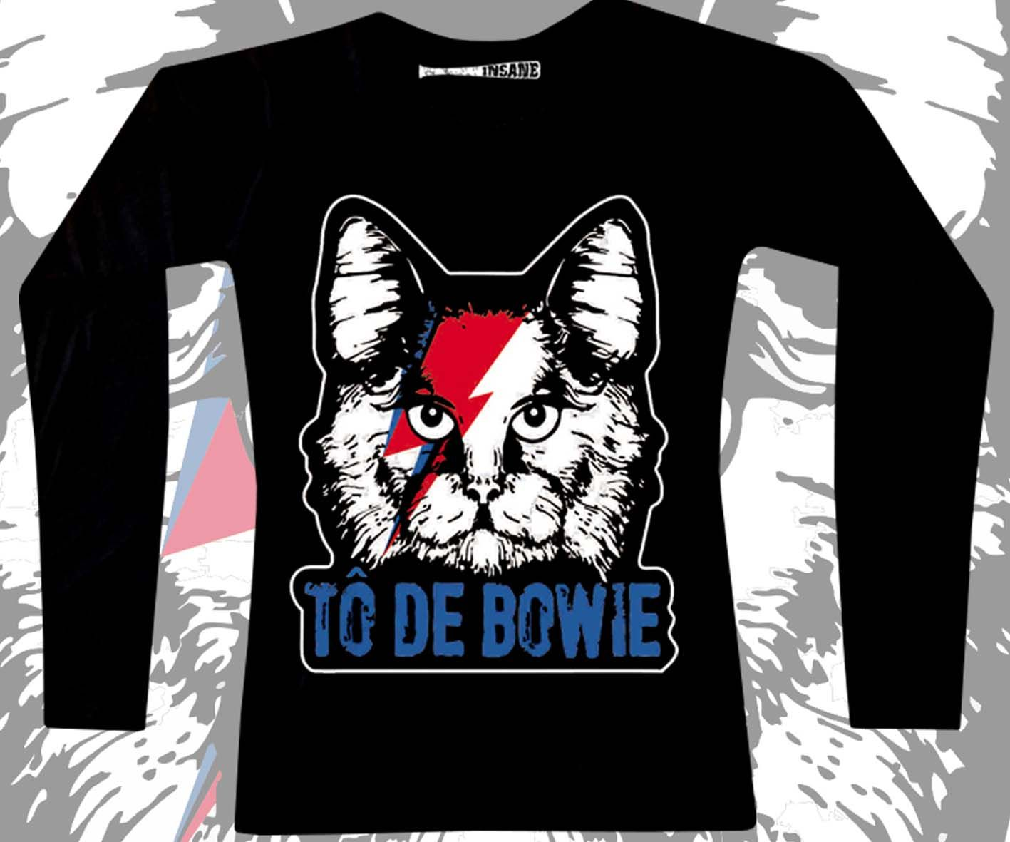 Manga Longa Fem Tô de Bowie