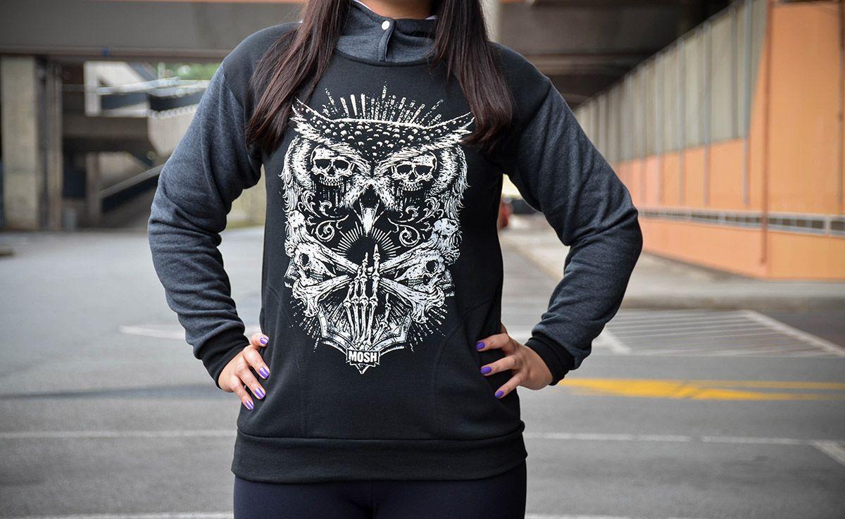 Moletom Owl Skull