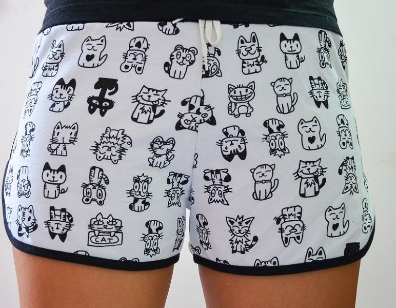Shorts Moletom Love Cats