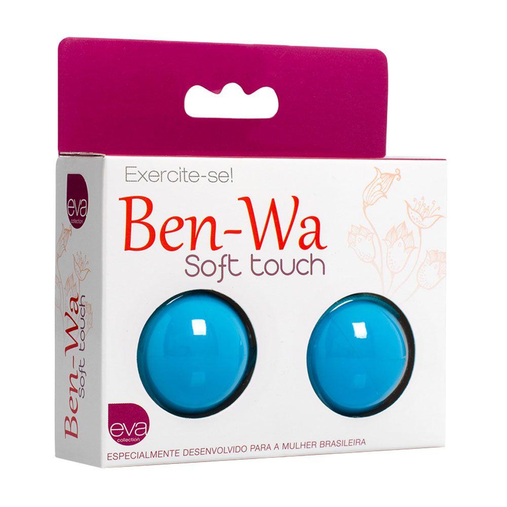 Ben Wa bolas de pompoar em Soft Touch Azul - Adão e Eva