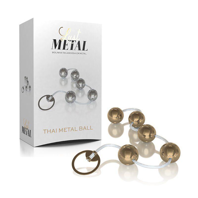 Bolinha Tailandesa HARD METAL Dourada