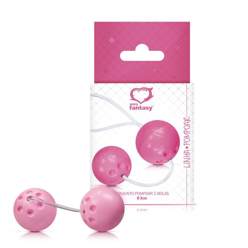 Kit de Pompoar Ben Wa Com 2 Bolas para Pompoarismo - Sexy Fantasy