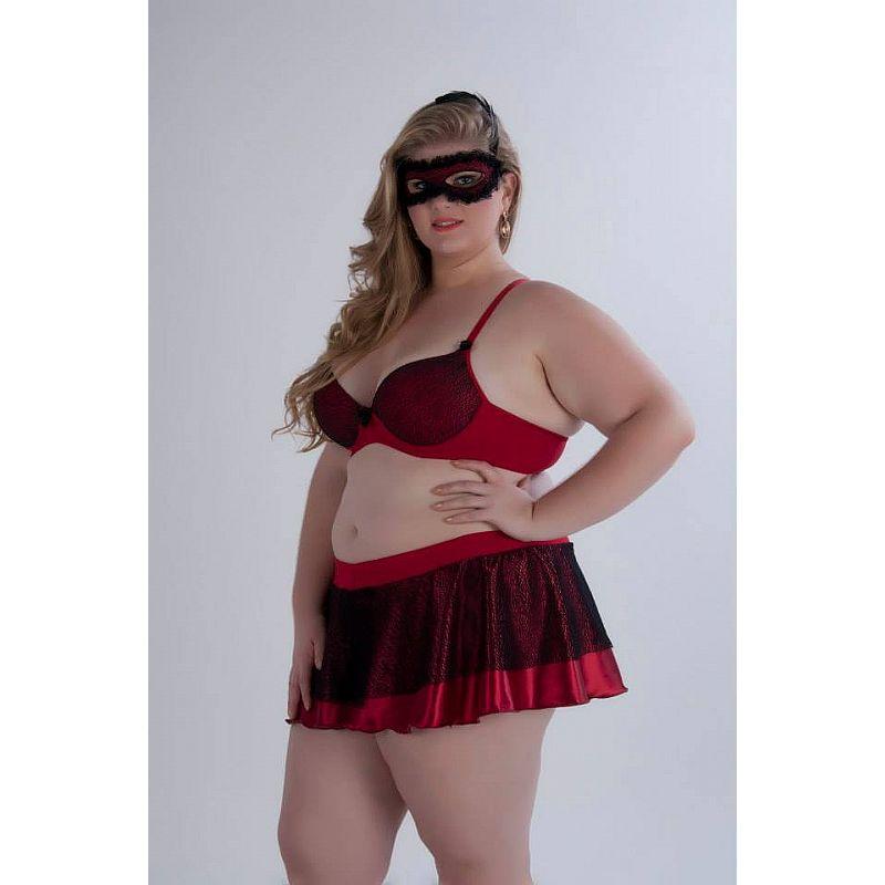 Fantasia Erótica Plus Size Espanhola - Garota Veneno