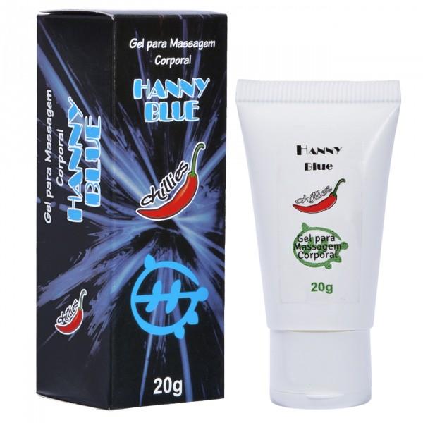 Gel Anal Anestésico Hanny Blue 20g - Chillies