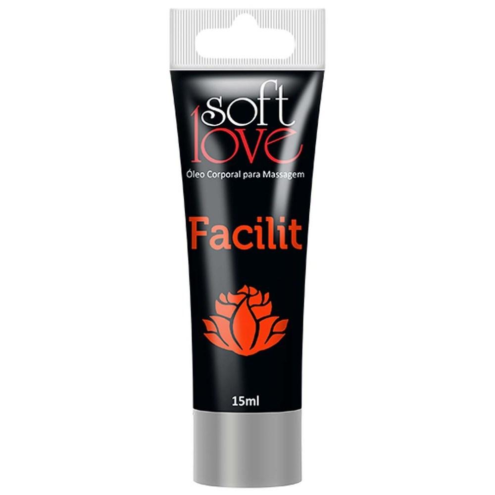 Gel Anestésico Anal Facilit 4x1 Bisnaga 15 Ml - Soft Love