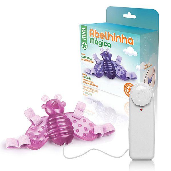 Vibrador Feminino com Cinta Mini Abelha mágica rosa