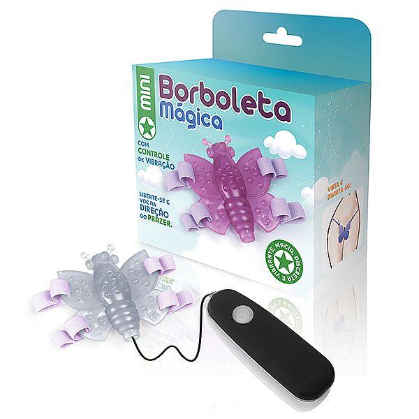 Mini Borboleta mágica transparente - 12 variações de velocidade - Adão e Eva