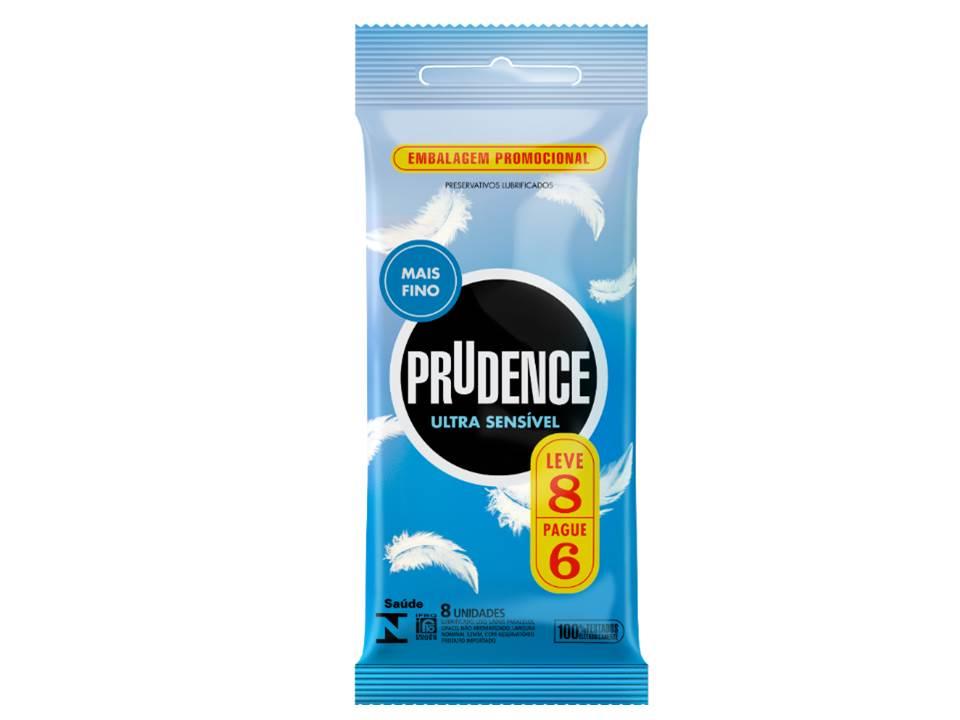 Preservativo Ultra Sensível Prudence 8 Unidades