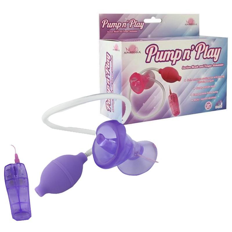 Vibrador Estimulador Feminino com Sucção e Vibração Multivelocidade Pump N' Play