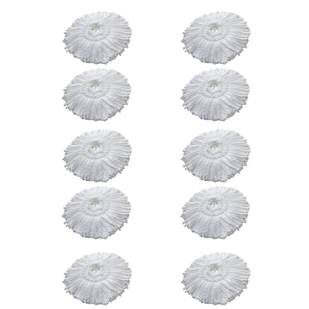 10 Refil Microfibra Balde spin Mop Universal Alta absorção