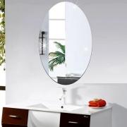Espelho Adesivo Em Flexível Decorativo Parede 40X30Cm
