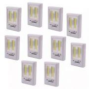 Kit 10 Luminárias De Emergência Compacta Á Pilha Regulável