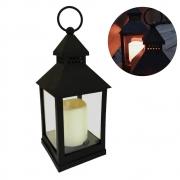 Luminária De Led Decorativa Lanterna Marroquina Com Vela