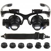 Oculos Lupa com Elastico Relojoeiro Profissional 25x Aumento