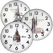Relógio De Parede Analógico 30cm Clink Grande