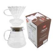 Suporte para Filtro Café Coador Vidro com Jarro 650ml Clink