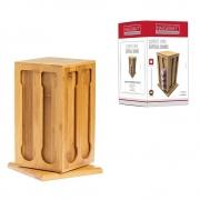 Suporte Porta Cápsula Nespresso Espresso Bambu Quadrado 21cm