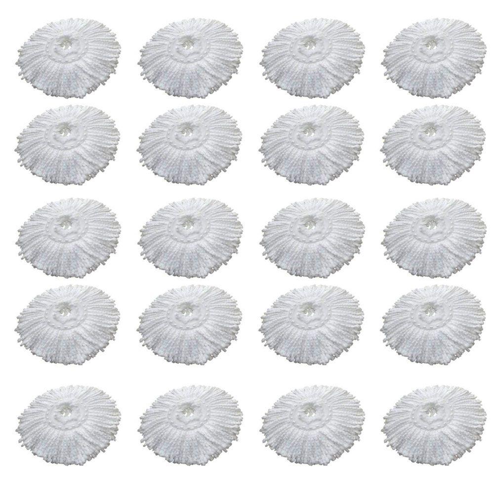 20 Refil Microfibra Balde spin Mop Universal Alta absorção