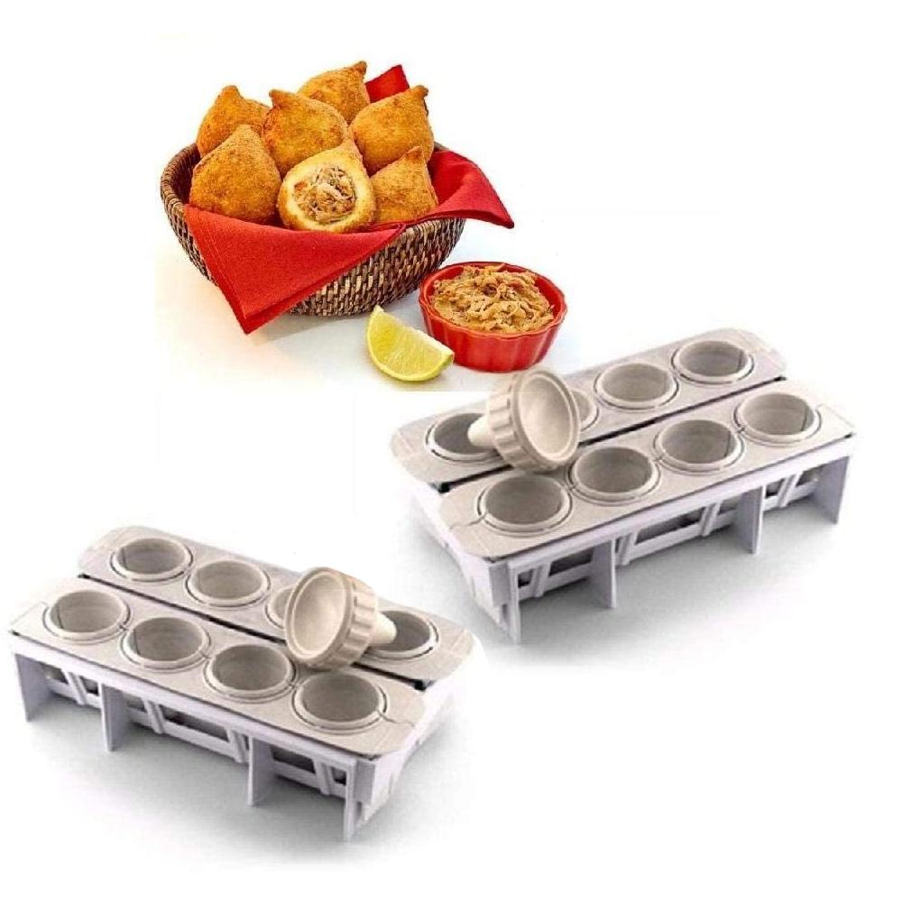 2 Formas Fábrica Coxinhas Modelador Salgado Festa Cozinha