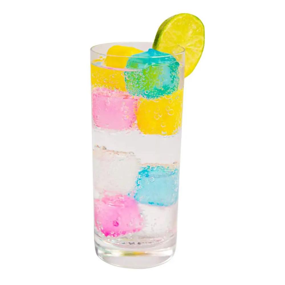 30 Cubos De Gelo Artificial Reutilizável Coloridos Congelar
