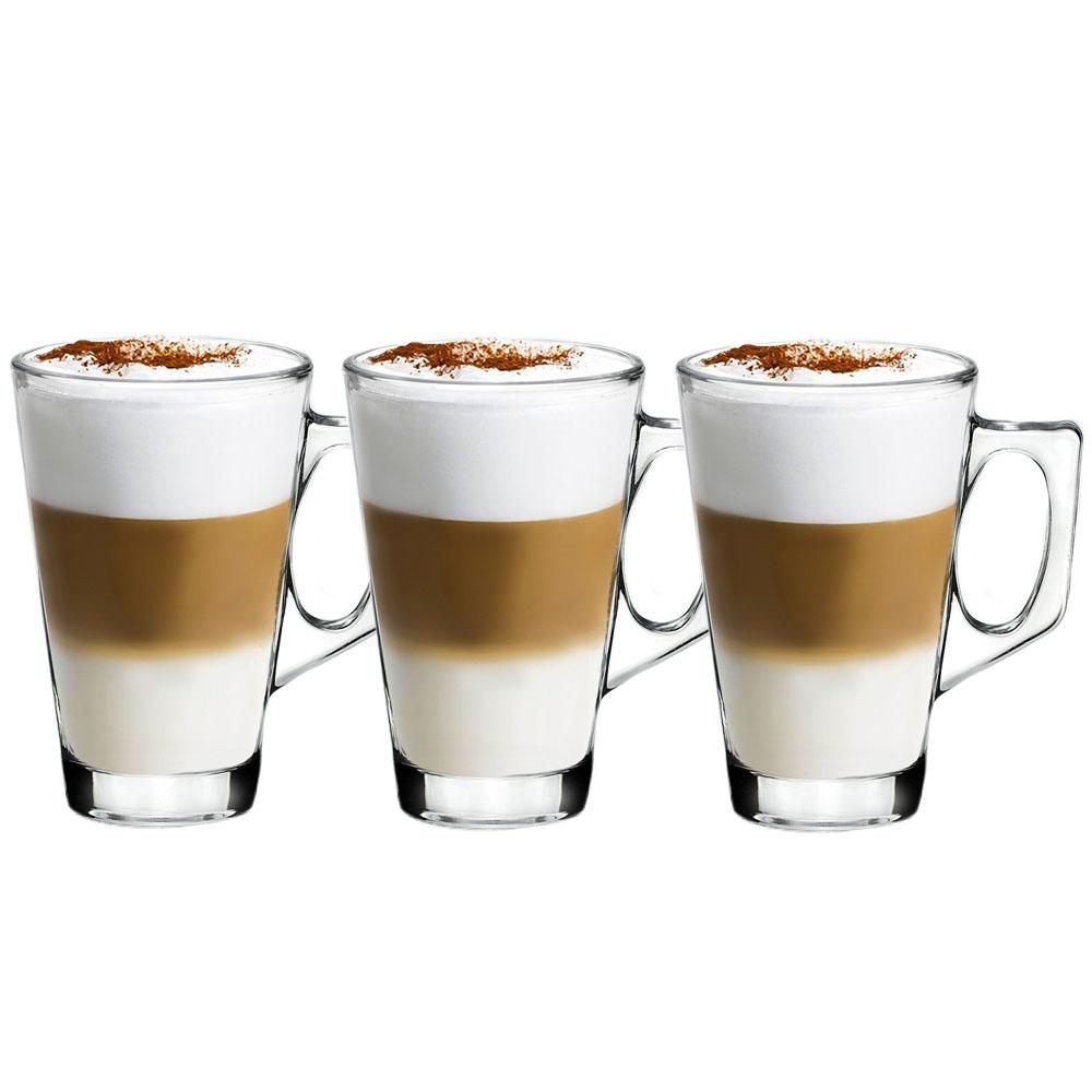 3 Caneca Capuccino Chocolate Xicaras Copo Café 250ml