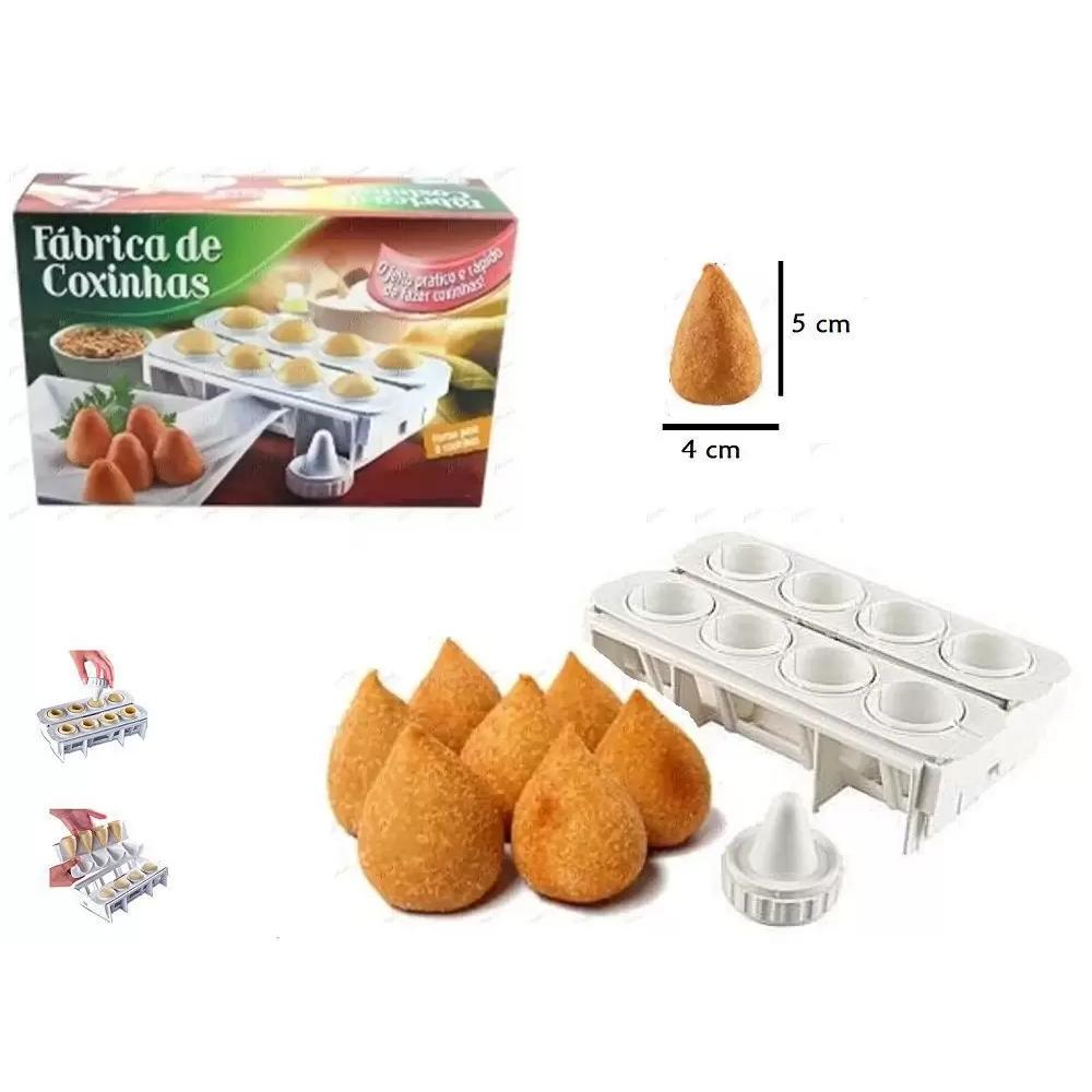 4 Formas Fábrica Coxinhas Modelador Salgado Festa Cozinha