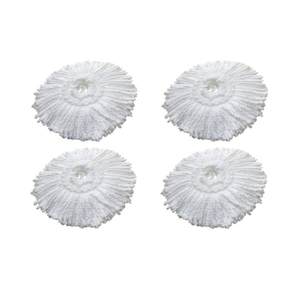 4 Refil Microfibra Balde spin Mop Universal Alta absorção