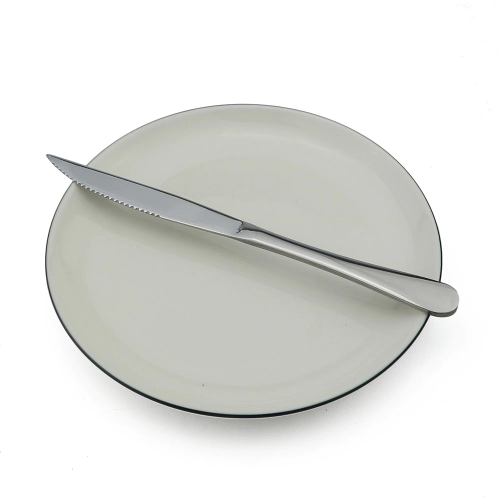 6 Facas Jantar Mesa Inox Talheres Restaurante Pesada