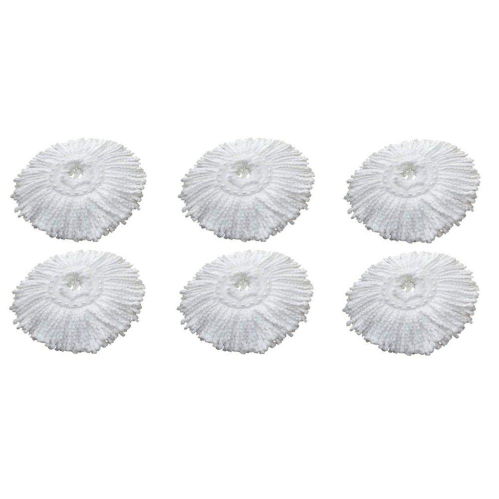 6 Refil Microfibra Balde spin Mop Universal Alta absorção