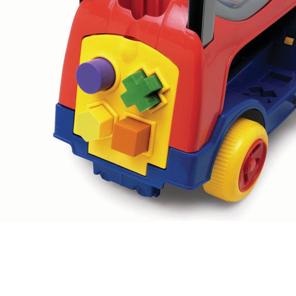 andador infantil 4 em 1 educativo com haste azul magic toys