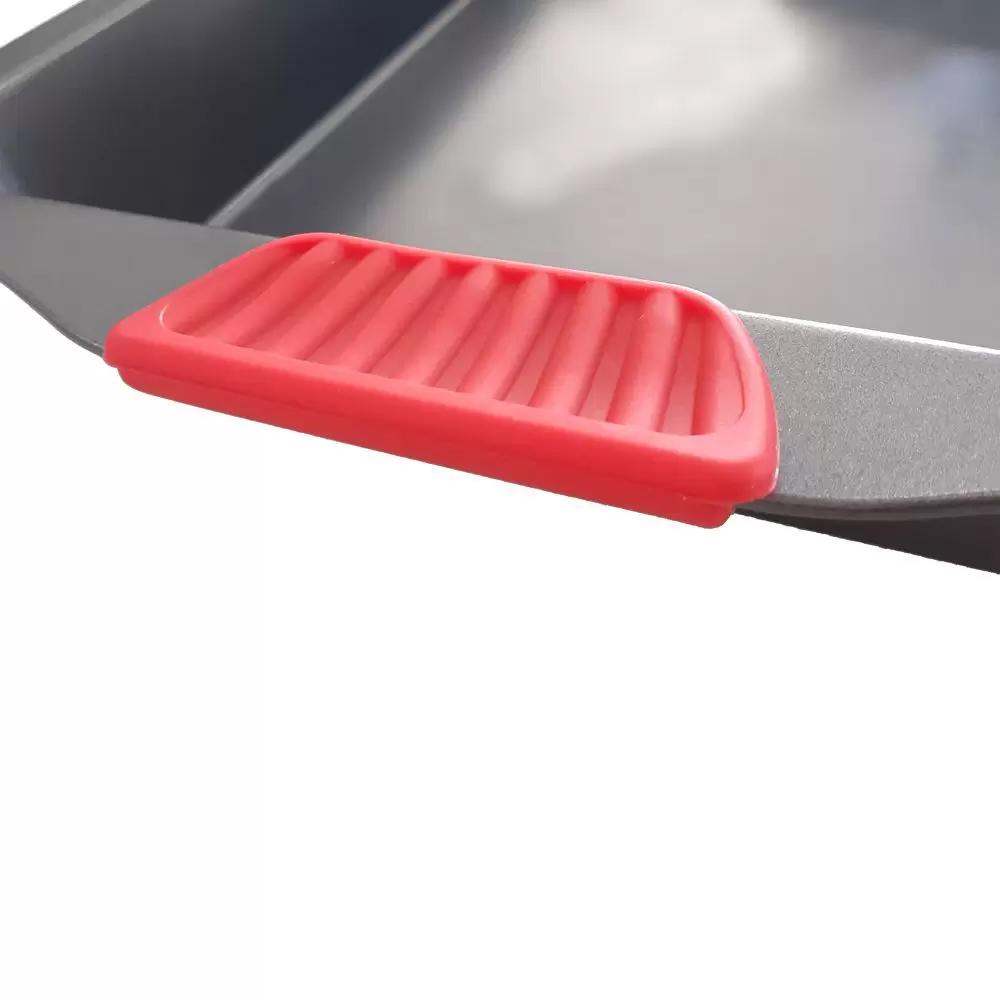 Assadeira Forma C/ Pegador Silicone Antiaderente Bolo Torta