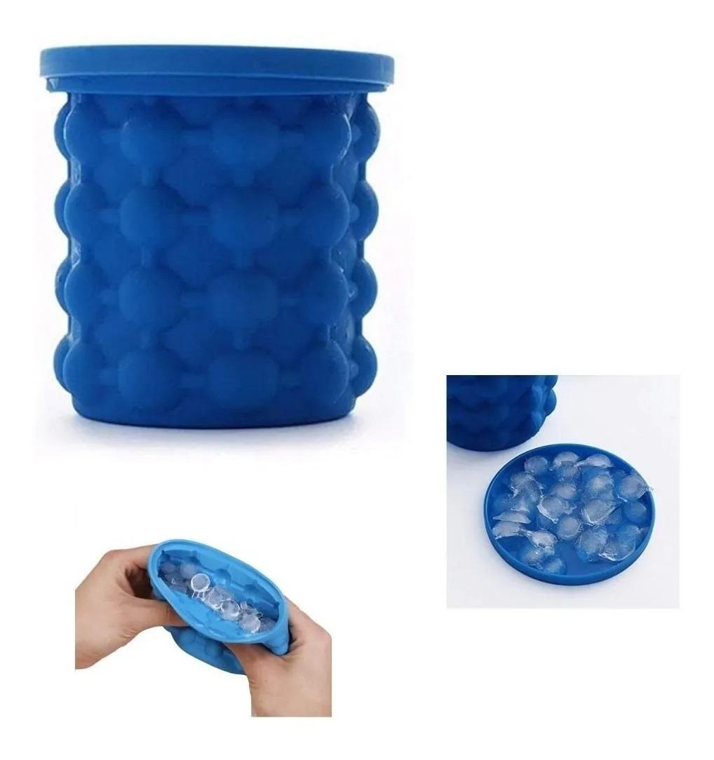 Balde Forma Gelo Silicone Porta Garrafa Lata Ice Magic Cube