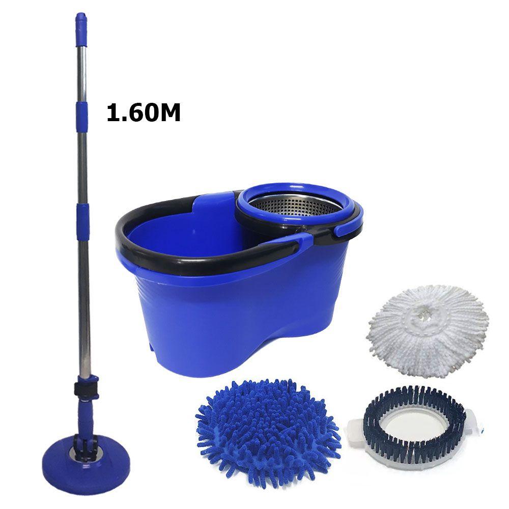 Balde Perfect Mop Pro 1.60m 1 refil microfibra 1 escovão 1 tira po
