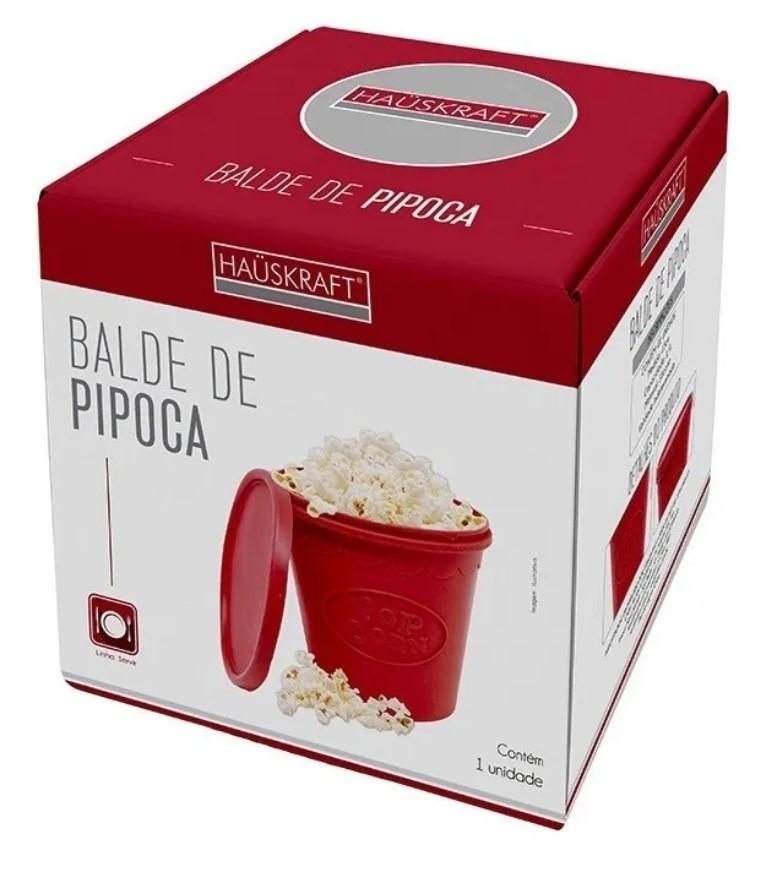 Balde Pipoca Microondas Pipoqueira Sem Oleo Silicone