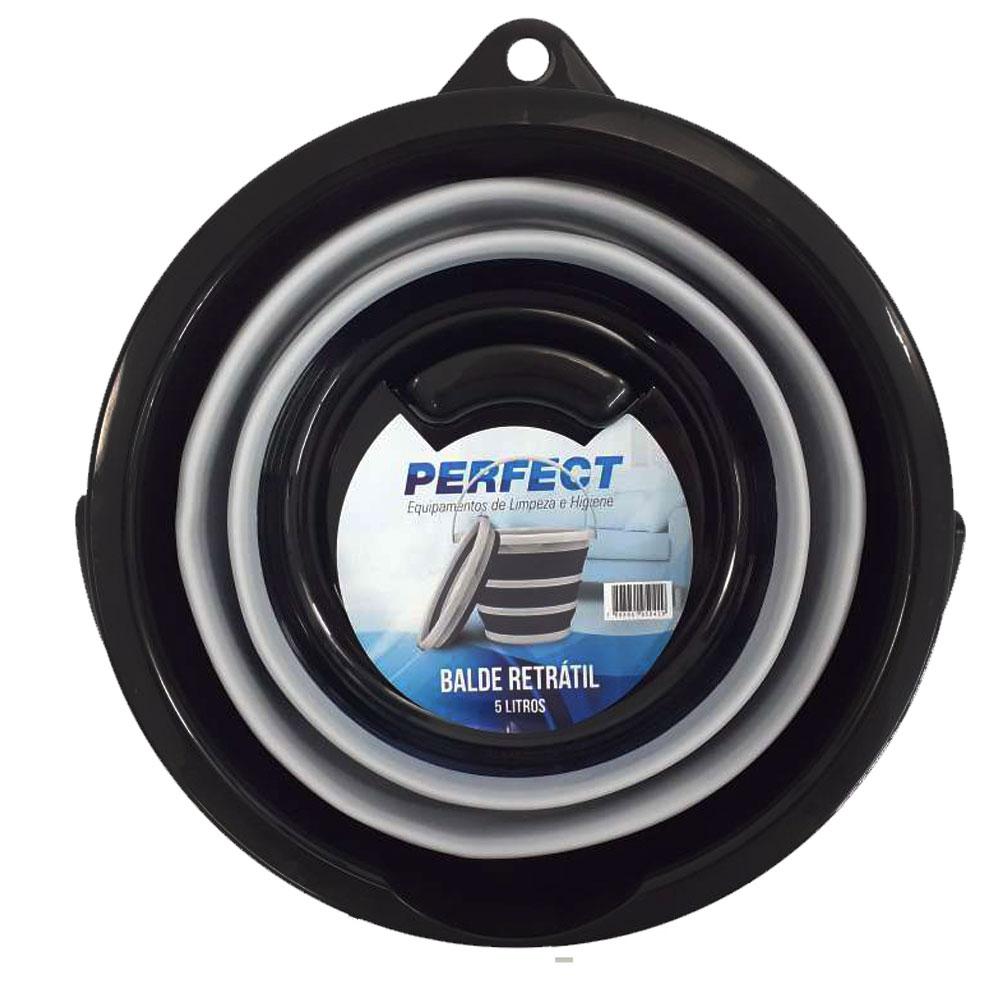 Balde Retrátil 5 Litros Silicone Flexível Dobrável Mop
