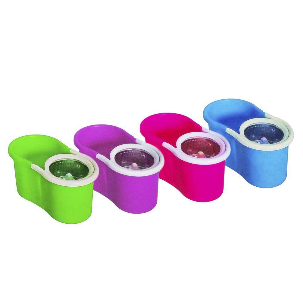 balde spin mop 360 com centrifuga inox esfregão base inox