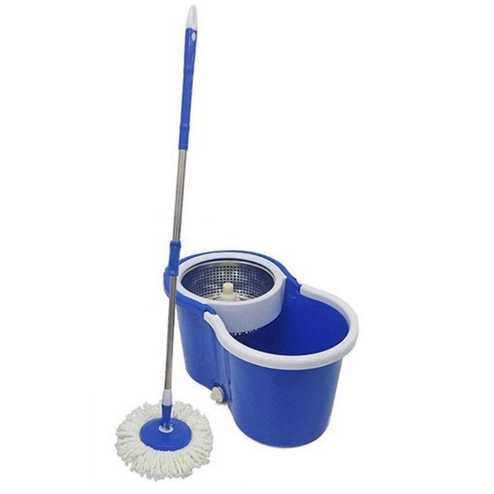 balde super mop centrífuga Inox cabo 1.34m com 5 refis
