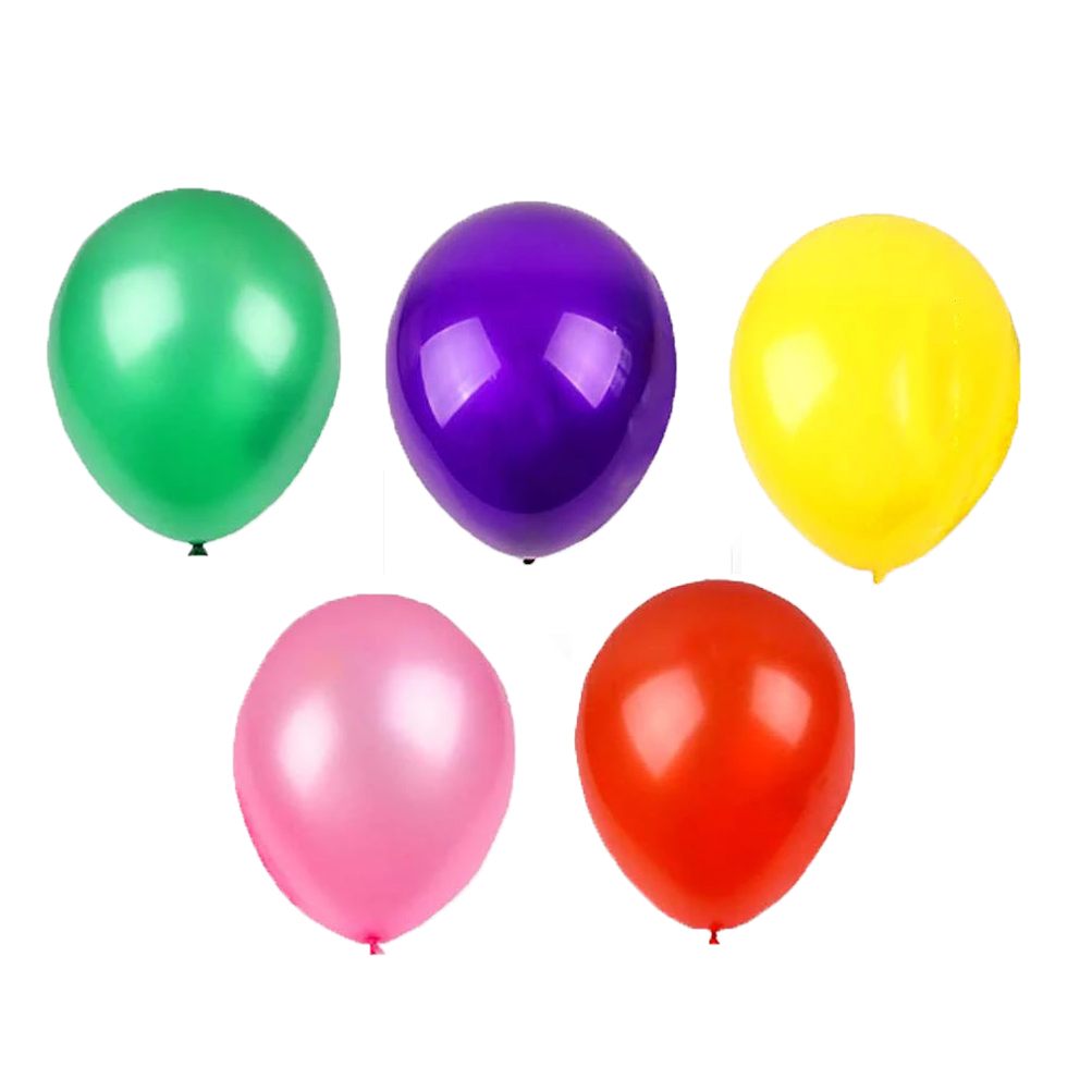 Balões Bexiga Coloridas Lisa Látex  n° 7 Festa 50 unidades