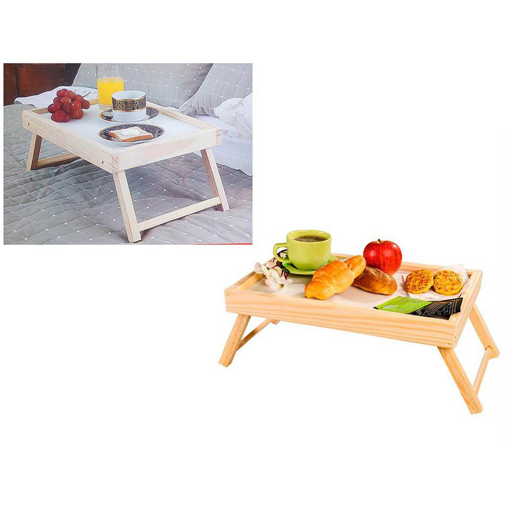 bandeja para café da manhã na cama em madeira resistente