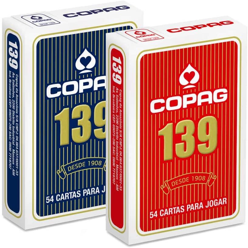 Baralho Copag 139 Com 12 Jogos Decks com 55 Cartas Original